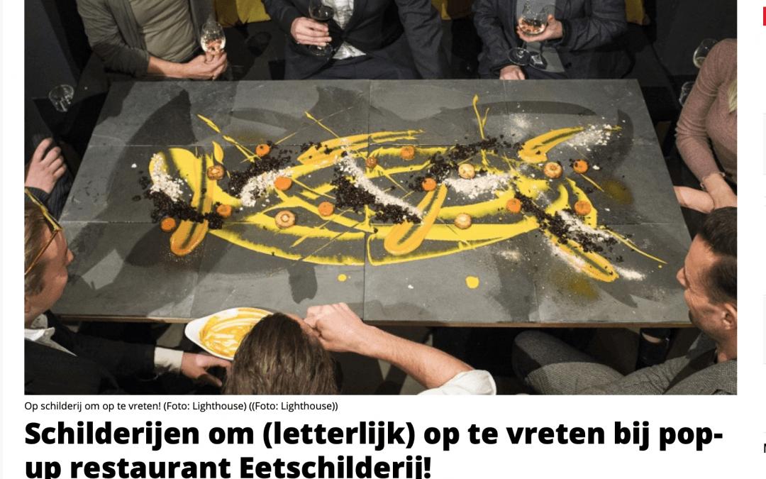 """Havenloods: """"Schilderijen om (letterlijk) op te vreten bij pop-up restaurant Eetschilderij!"""""""