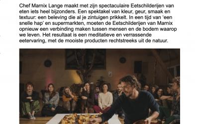 """Bio Journaal: """"Chef serveert eetschilderijen"""""""