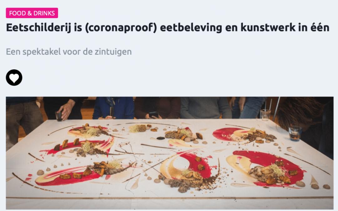 """Event Inspiration: """"Eetschilderij is (coronaproof) eetbeleving en kunstwerk in één"""""""